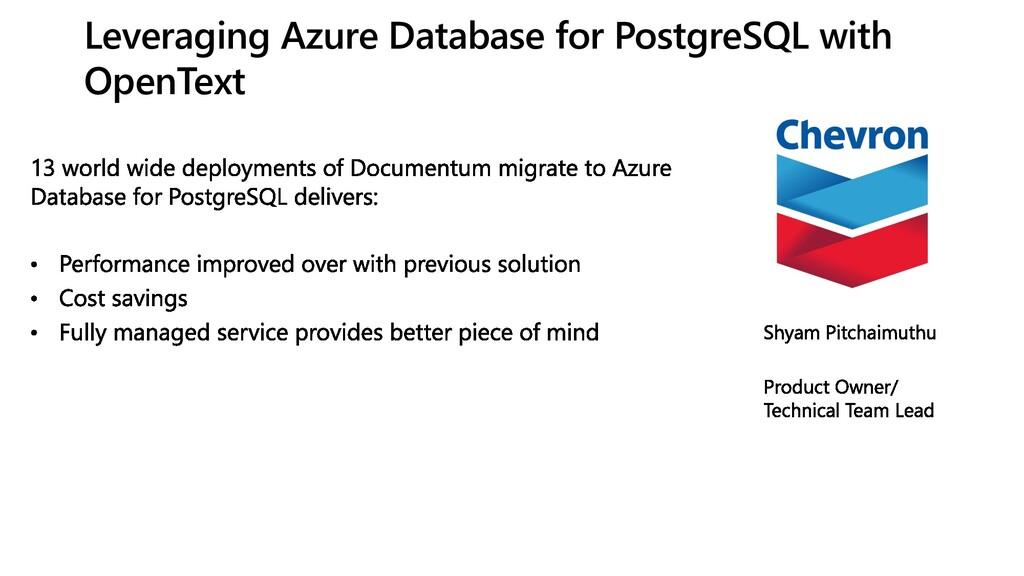 Leveraging Azure Database for PostgreSQL with O...