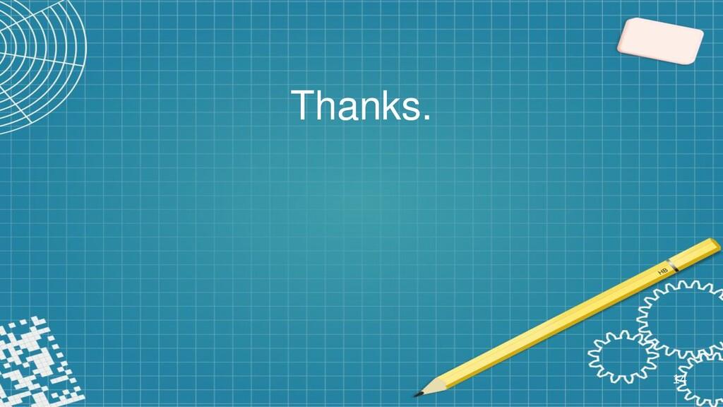 Thanks. 14