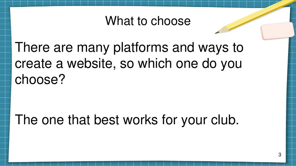 What to choose There are many platforms and way...