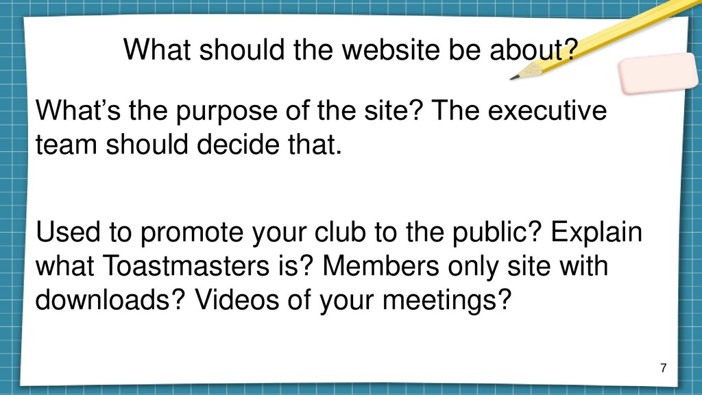 What should the website be about? What's the pu...