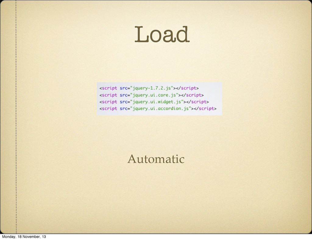 Load Automatic Monday, 18 November, 13