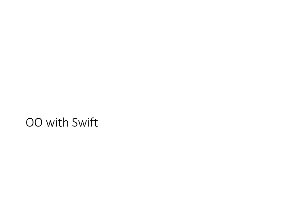 OO with Swift