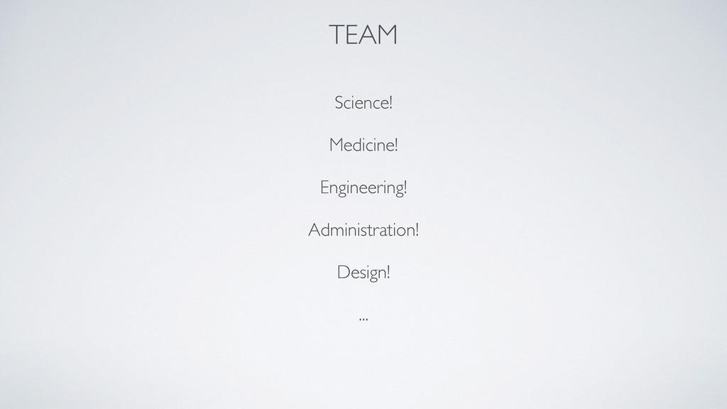 TEAM Science!  Medicine!  Engineering!  A...