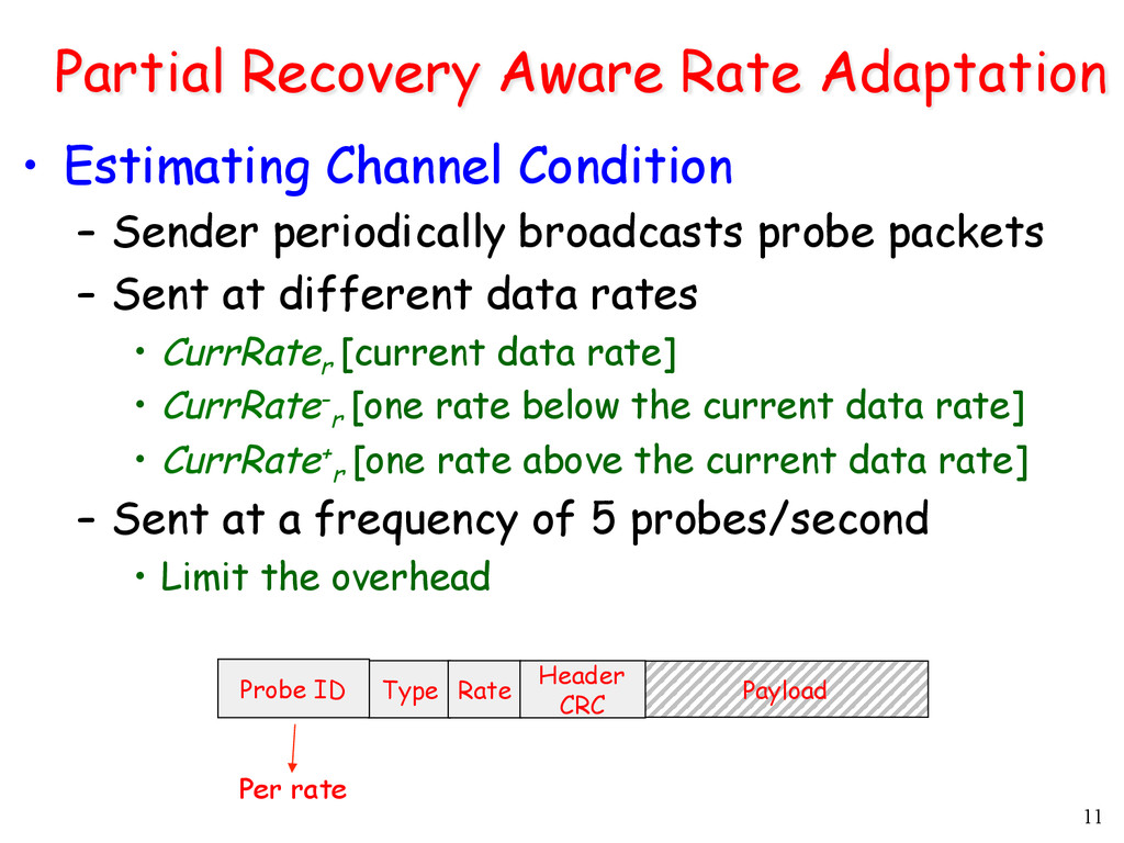 11 Partial Recovery Aware Rate Adaptation •  Es...