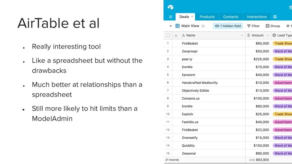 ● Really interesting tool ● Like a spreadsheet ...