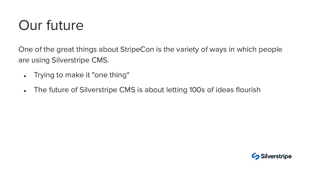 One of the great things about StripeCon is the ...