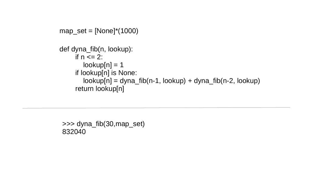 map_set = [None]*(1000) def dyna_fib(n, lookup)...