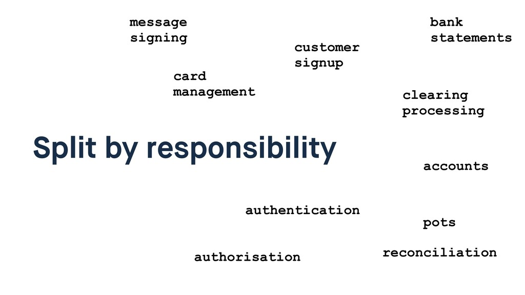 Split by responsibility card management custome...