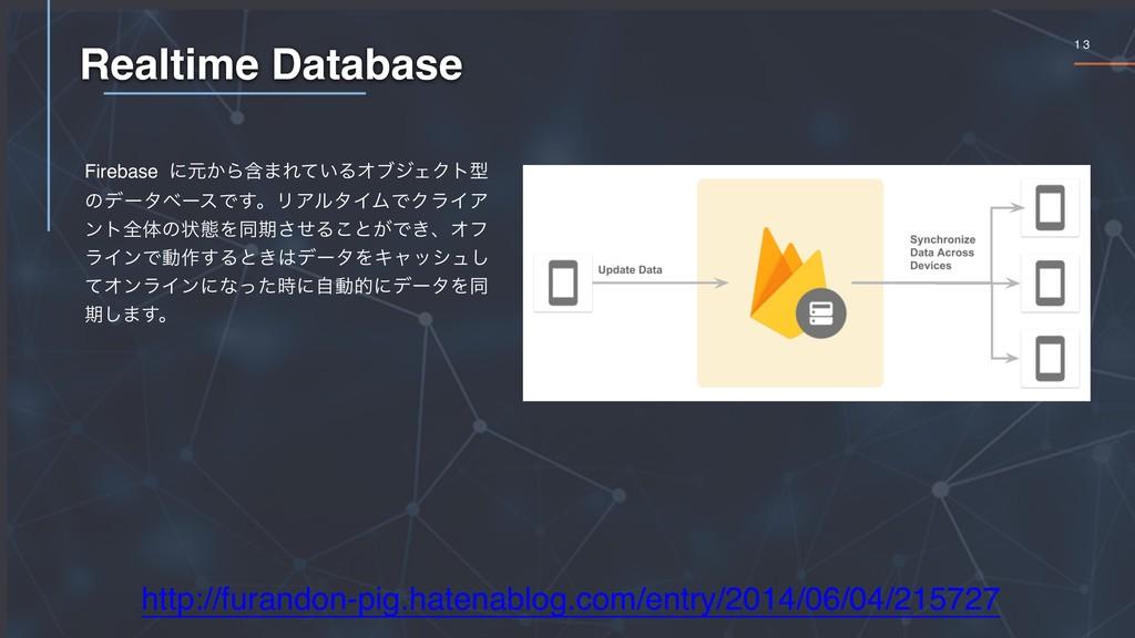 1 3 Realtime Database http://furandon-pig.haten...