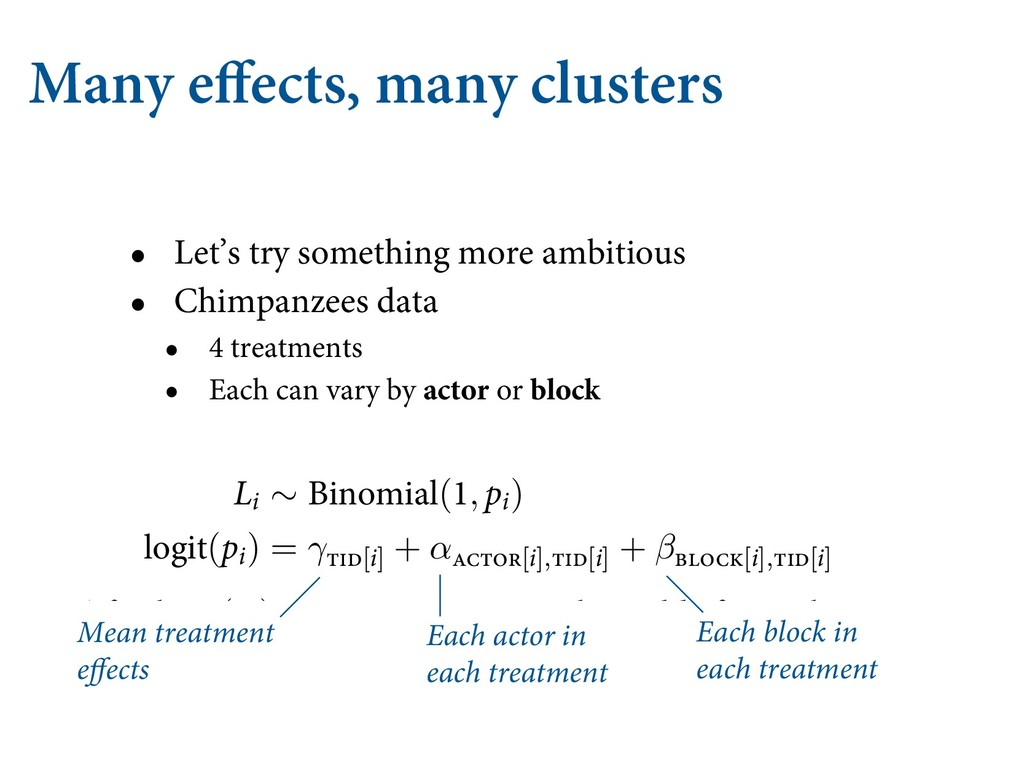 Many effects, many clusters • Let's try somethi...