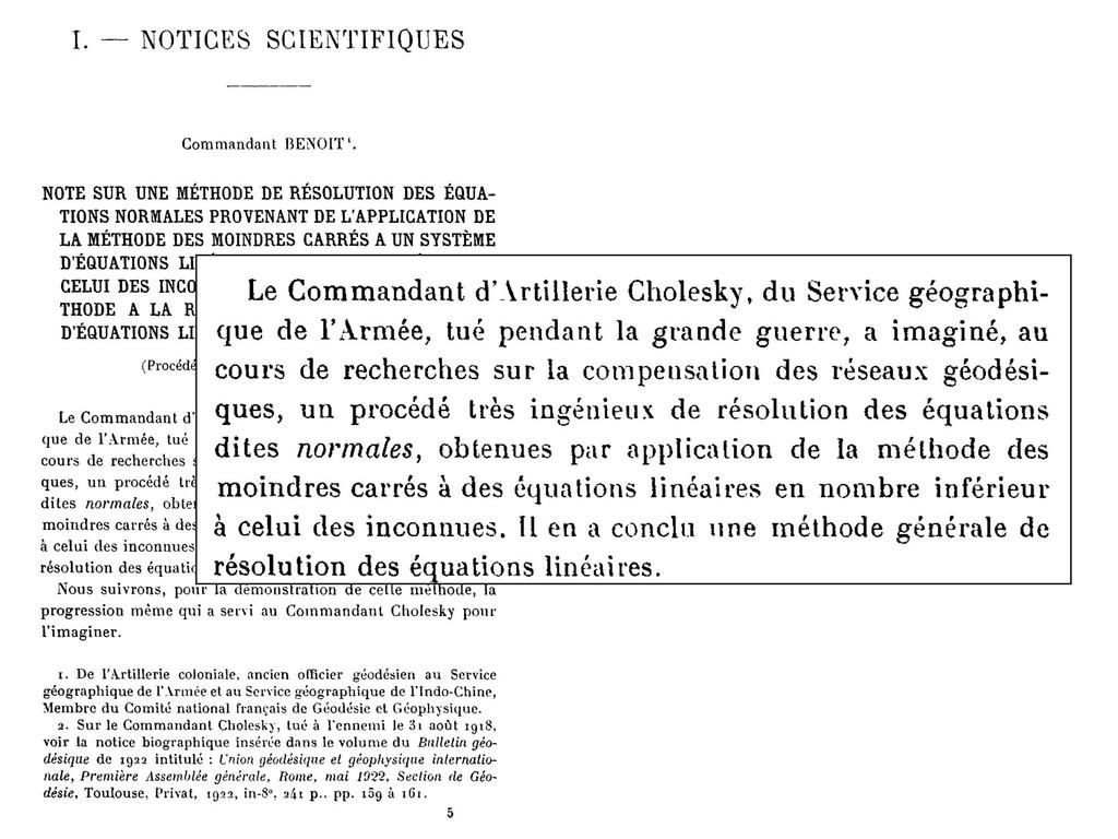 I. NOTICES SCIENTIFIQUES Commandant BENOIT '. N...