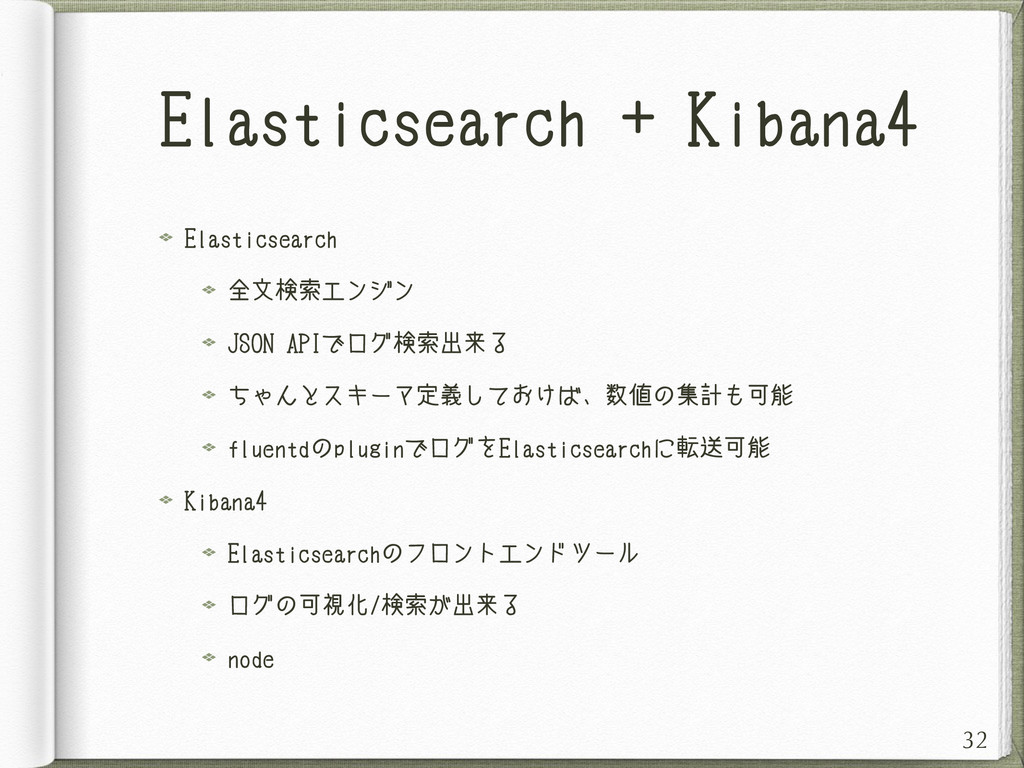 Elasticsearch + Kibana4 Elasticsearch 全文検索エンジン ...