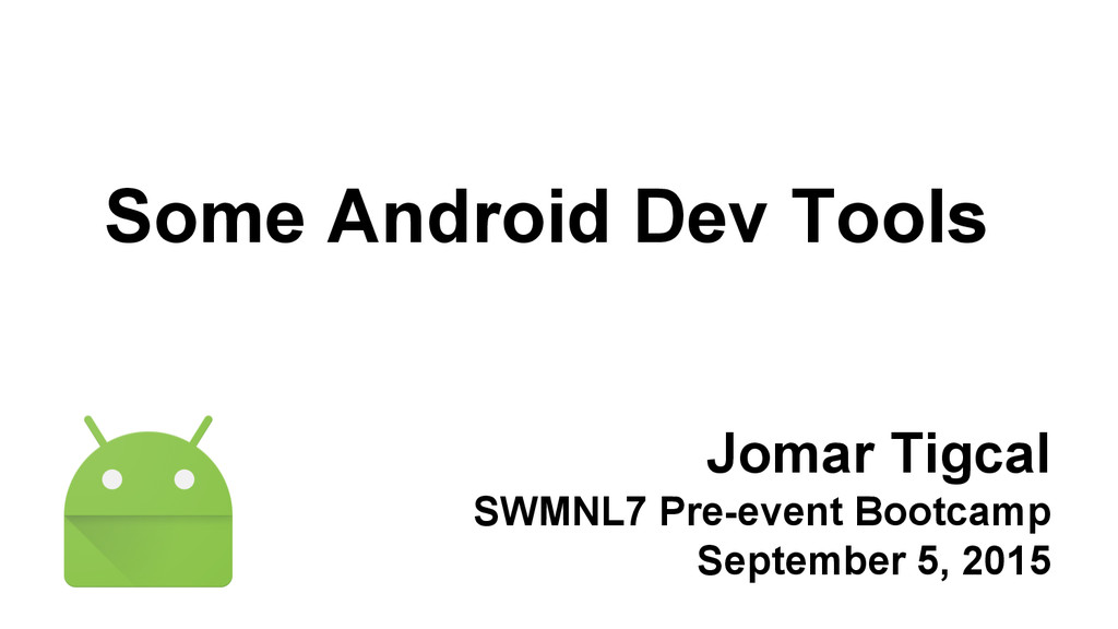 Jomar Tigcal SWMNL7 Pre-event Bootcamp Septembe...