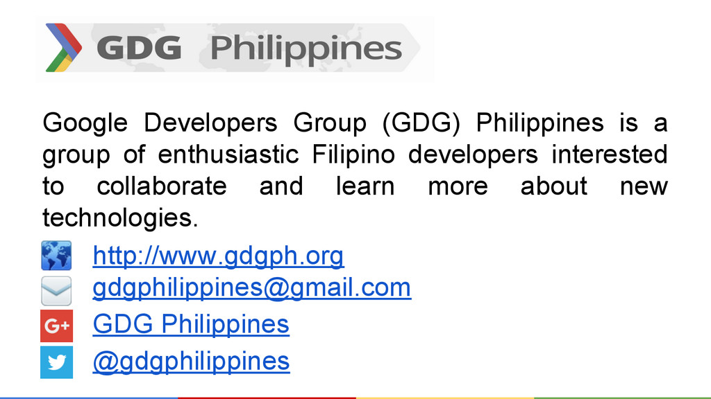 Google Developers Group (GDG) Philippines is a ...