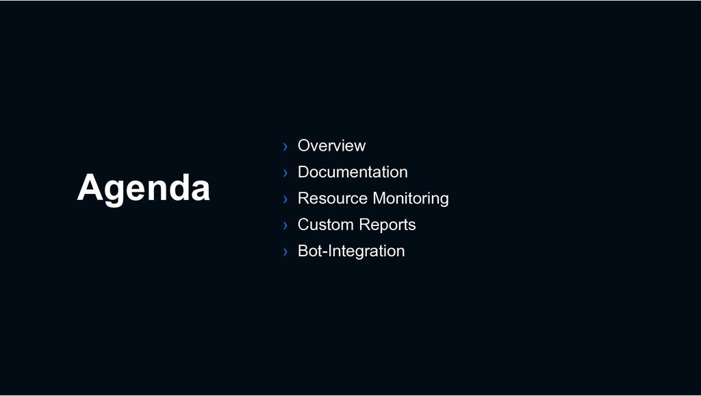 Agenda › Overview › Documentation › Resource Mo...