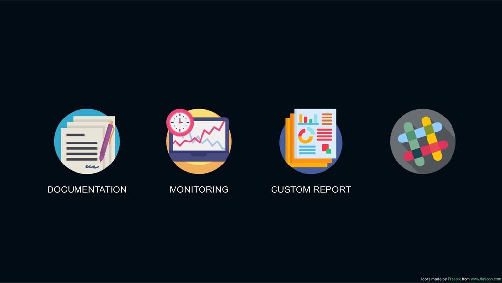 DOCUMENTATION MONITORING CUSTOM REPORT Icons ma...
