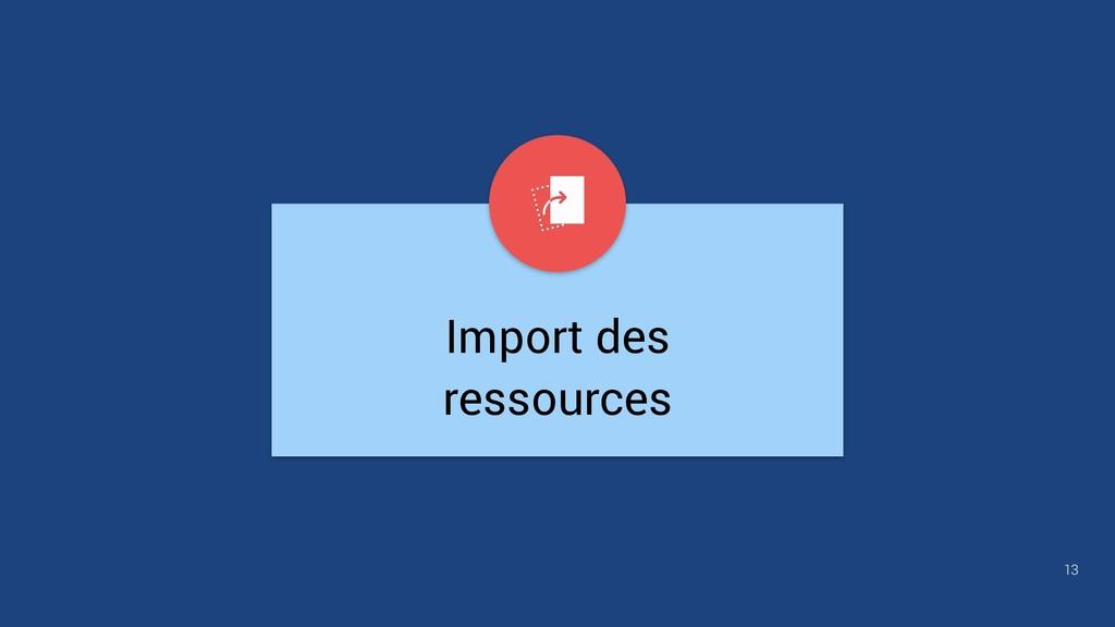 Import des ressources 13