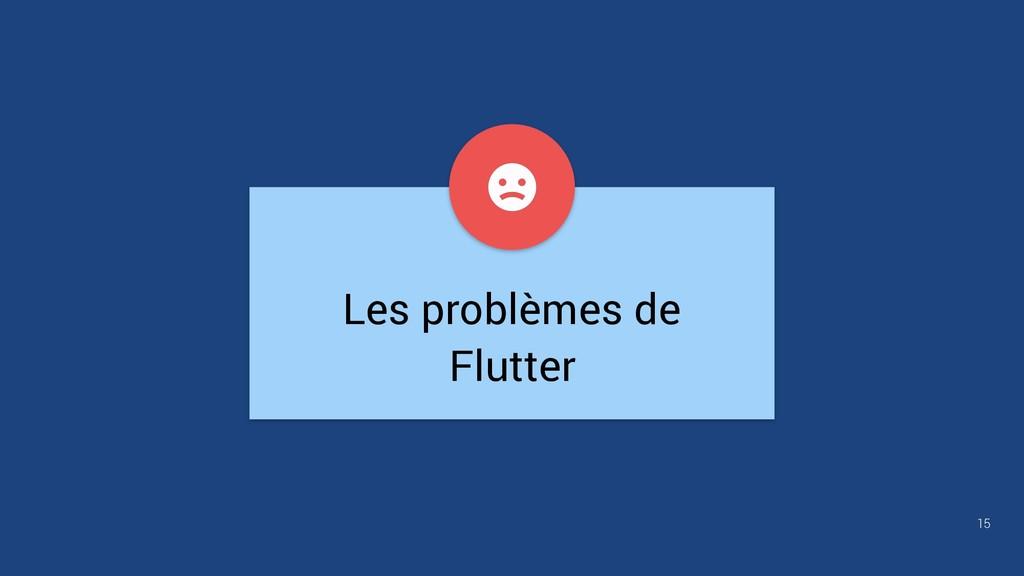 Les problèmes de Flutter 15