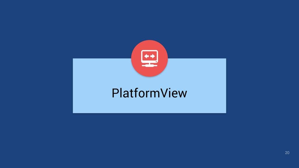 20 PlatformView
