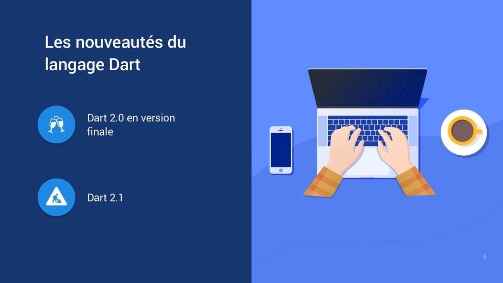 Dart 2.1 Dart 2.0 en version finale Les nouveau...