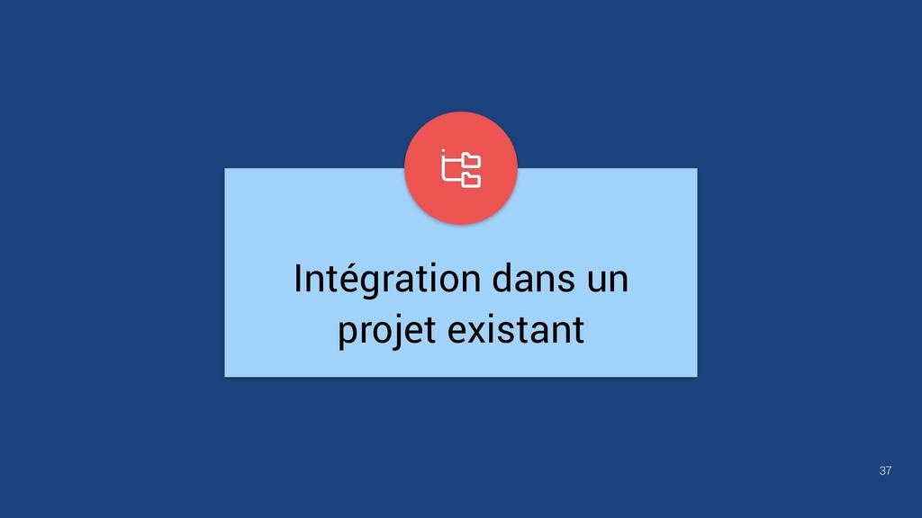 37 Intégration dans un projet existant