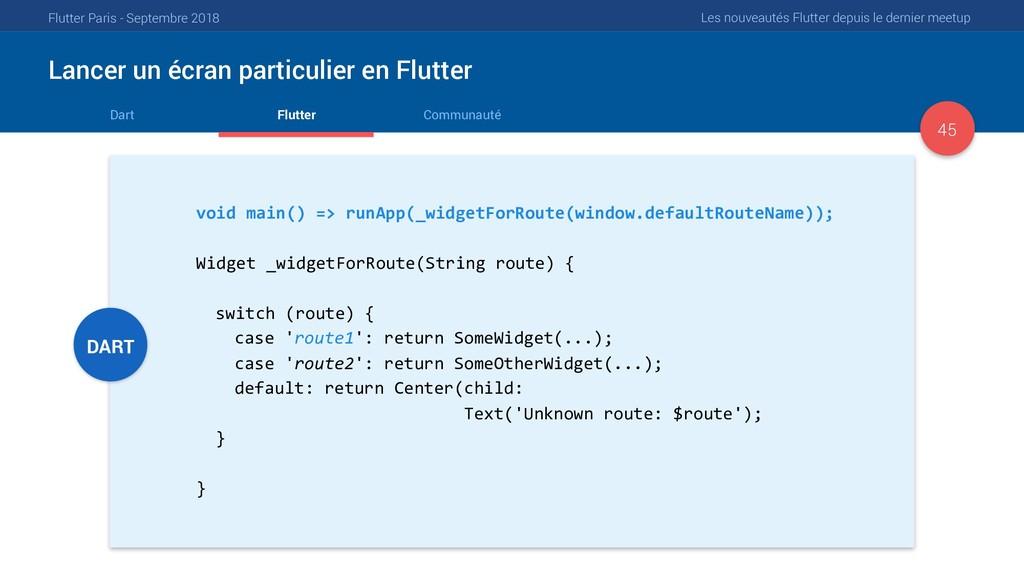 Flutter Paris - Septembre 2018 Les nouveautés F...