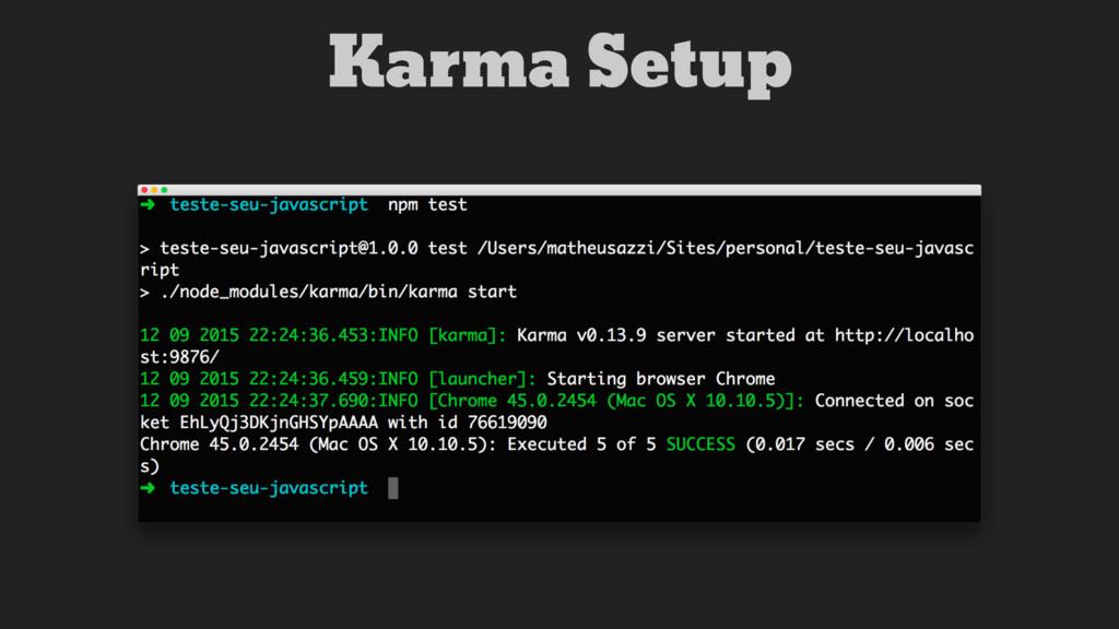 Karma Setup