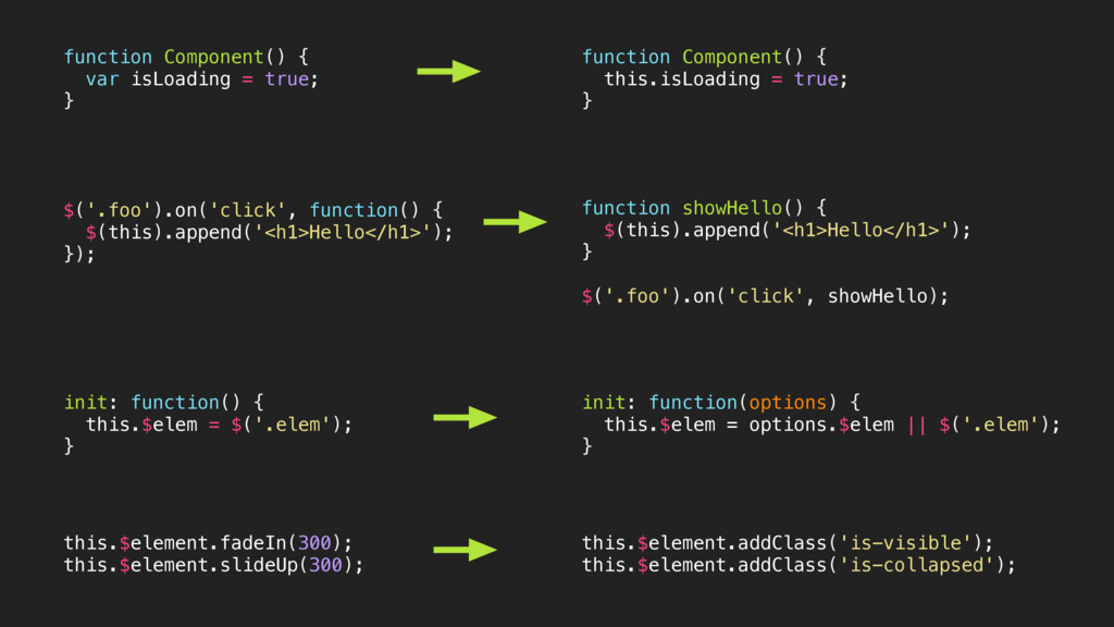 function Component() { var isLoading = true; } ...