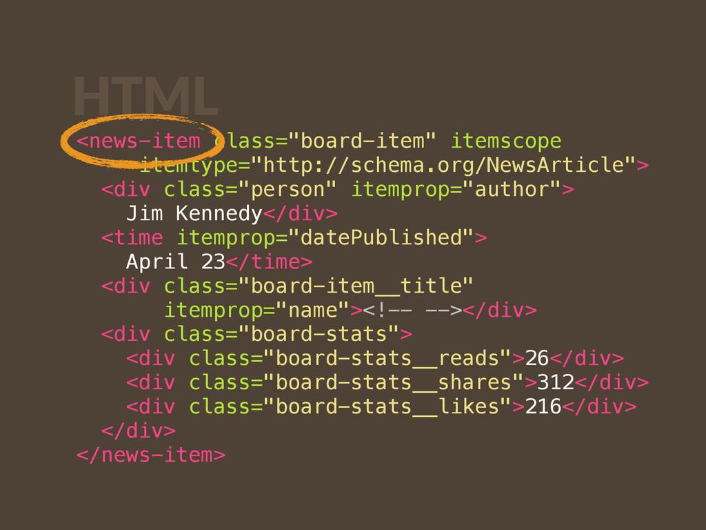 """HTML <news-item class=""""board-item"""" itemscope  ..."""