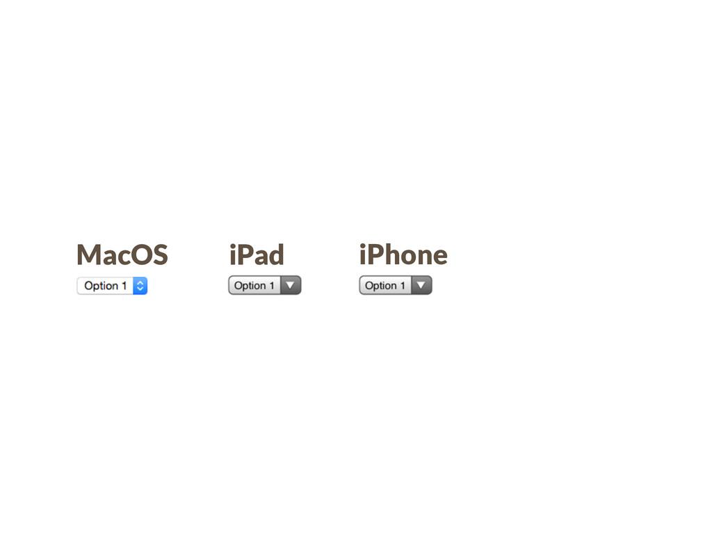MacOS iPad iPhone