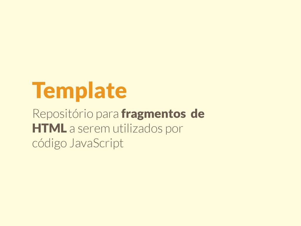 Repositório para fragmentos de HTML a serem uti...