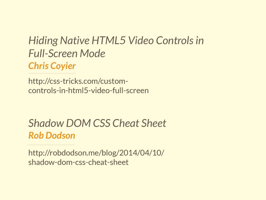 Hiding Native HTML5 Video Controls in Full-Scre...