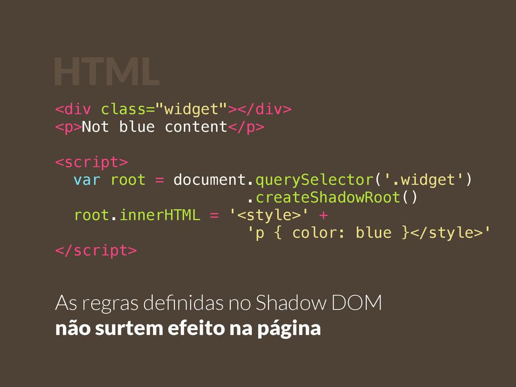 """<div class=""""widget""""></div> <p>Not blue content<..."""