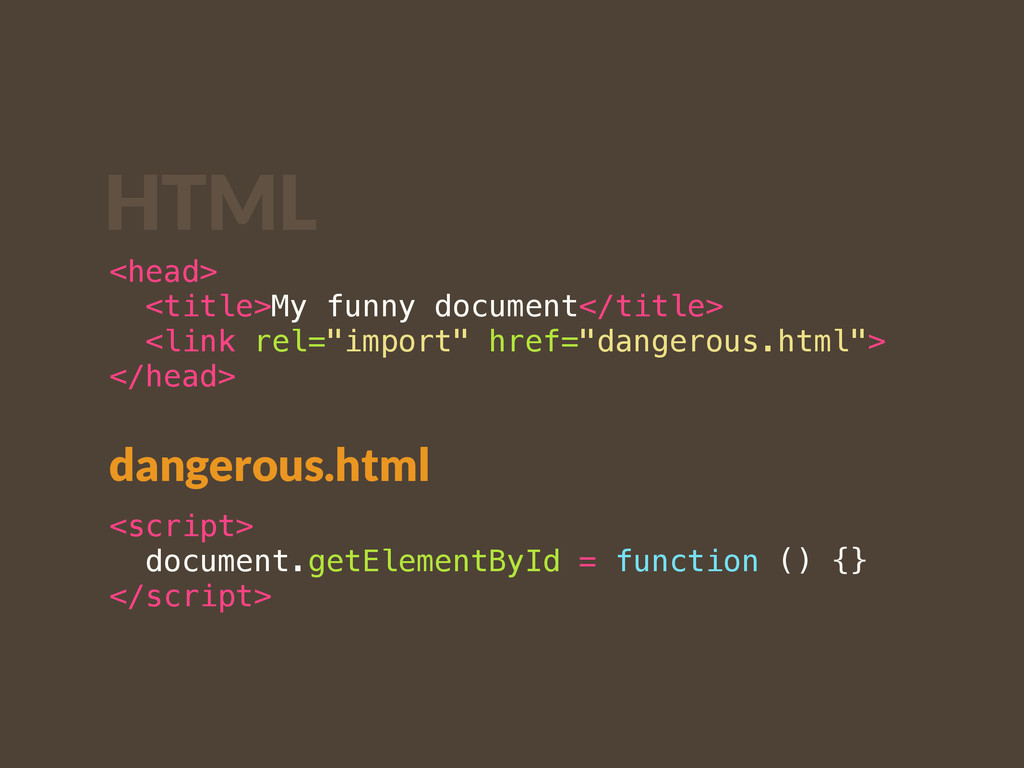 <head> <title>My funny document</title> <link r...