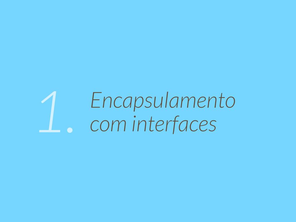 Encapsulamento  com interfaces 1.