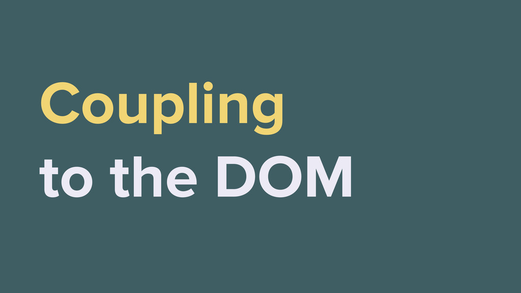 Coupling to the DOM
