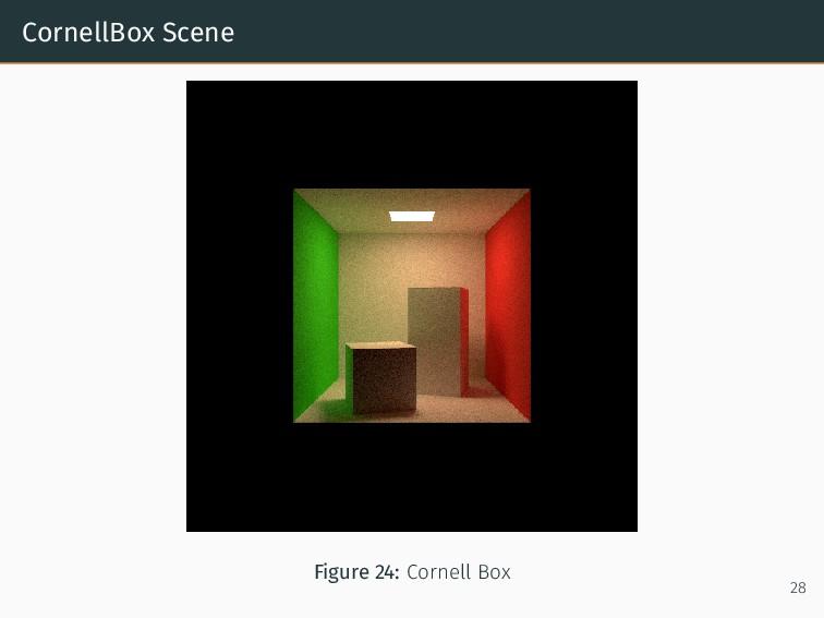 CornellBox Scene Figure 24: Cornell Box 28