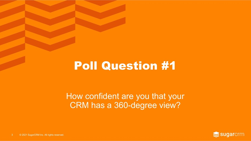 © 2021 SugarCRM Inc. All rights reserved. Poll ...