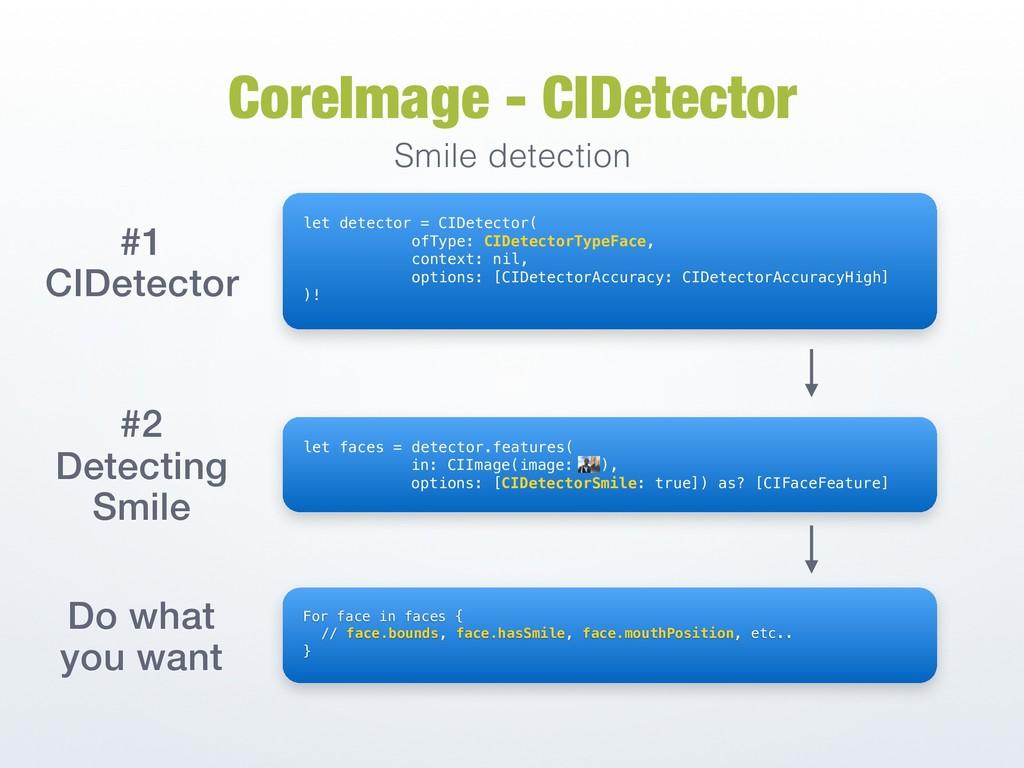 CoreImage - CIDetector Smile detection #1 CIDet...