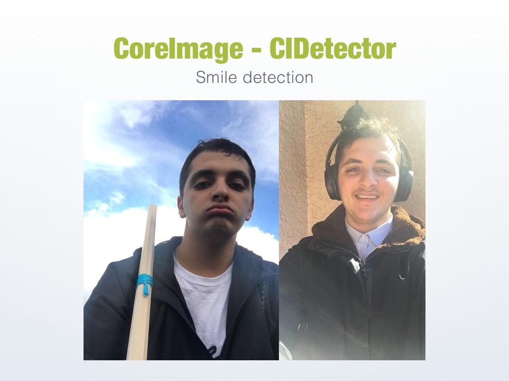 CoreImage - CIDetector Smile detection