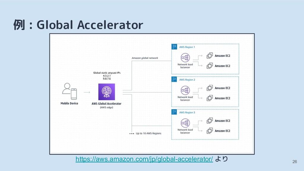 例 : Global Accelerator https://aws.amazon.com/j...