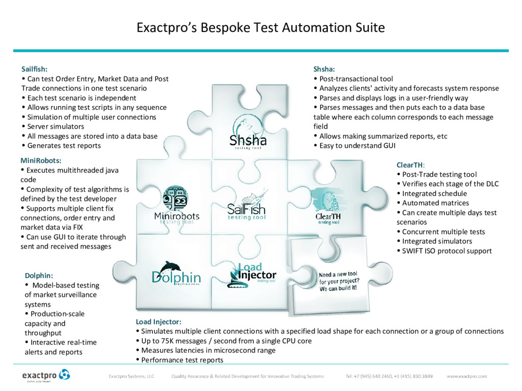 Exactpro's Bespoke Test Automation Suite ClearT...