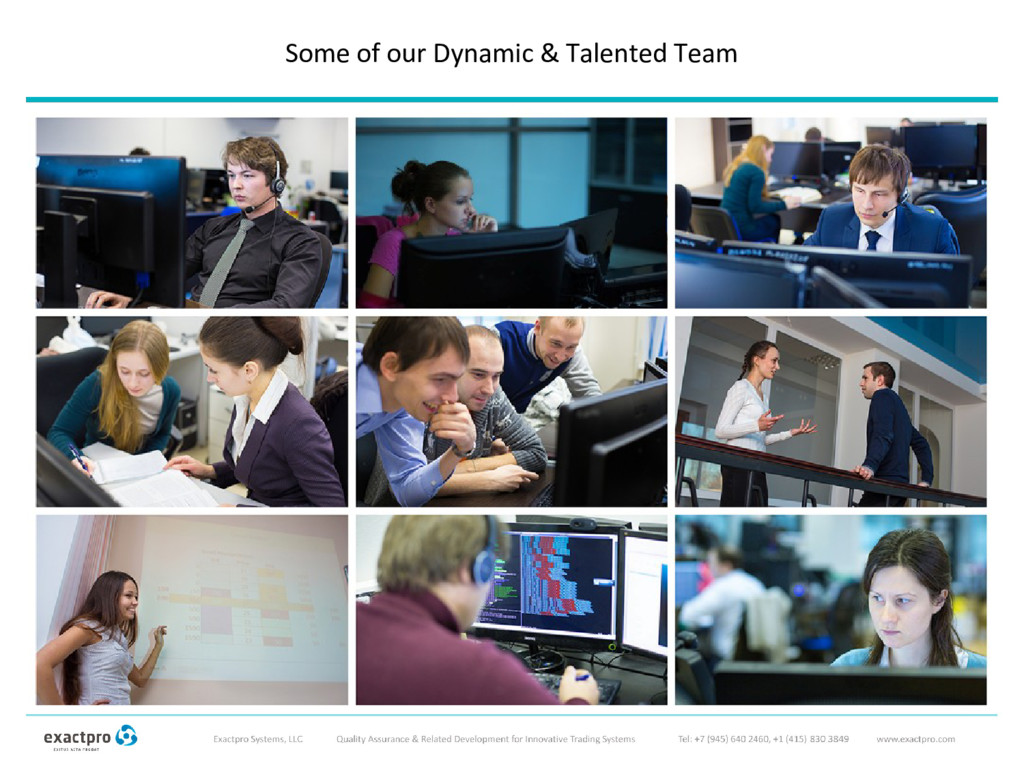 Some of our Dynamic & Talented Team