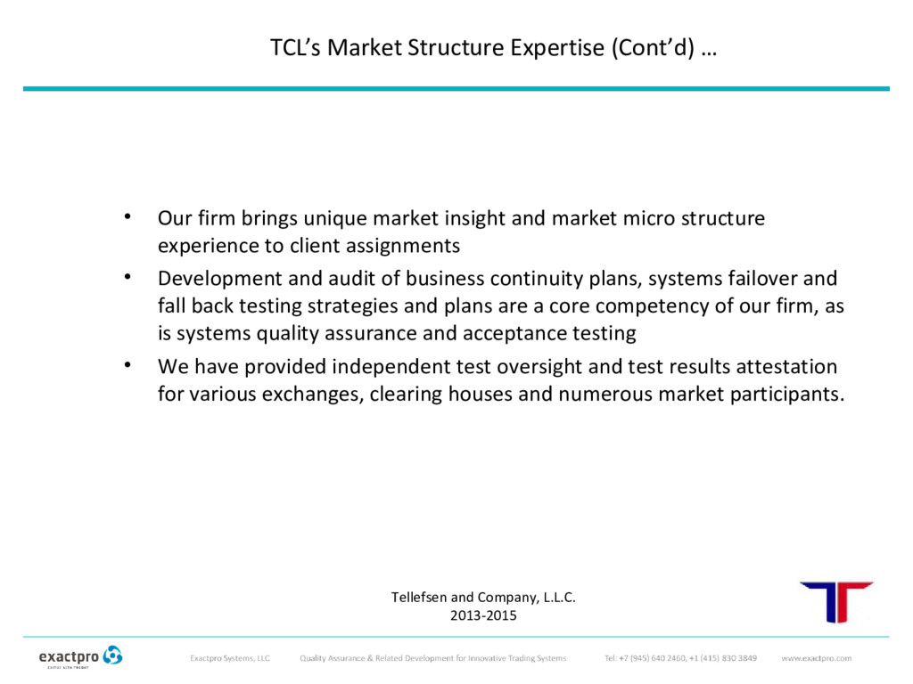 • Our firm brings unique market insight and mar...