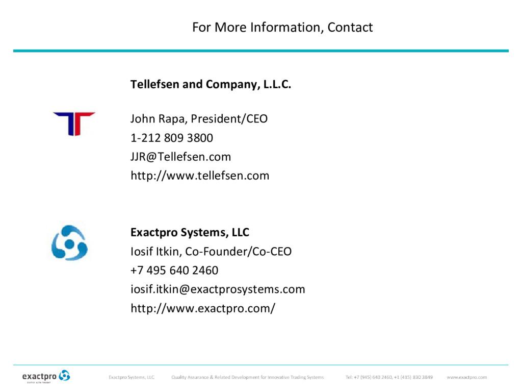 Tellefsen and Company, L.L.C. John Rapa, Presid...