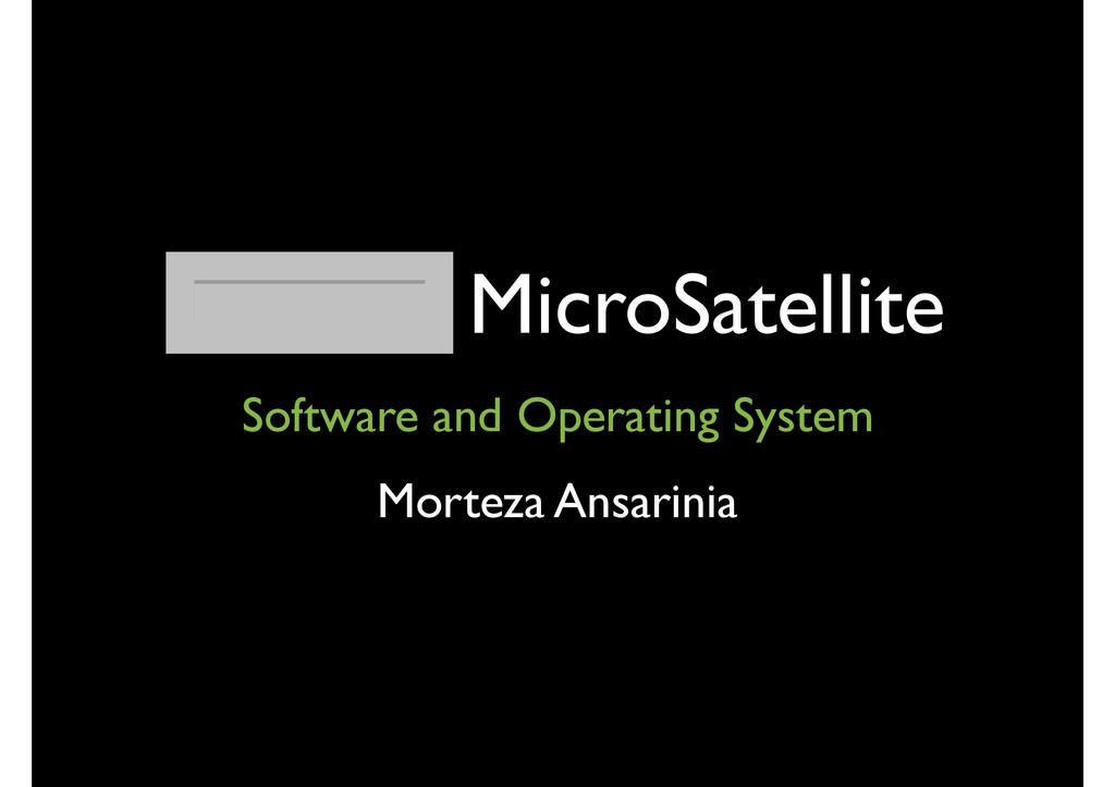 AUTSat MicroSatellite Software and Operating Sy...