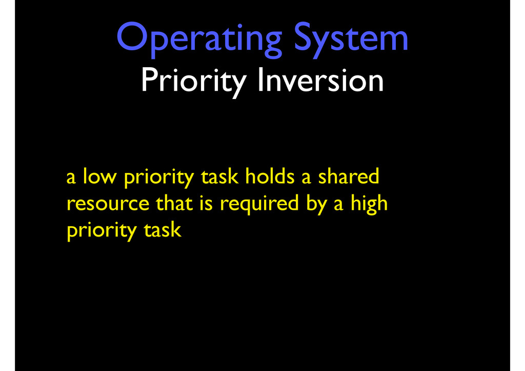 Operating System Priority Inversion a low prior...