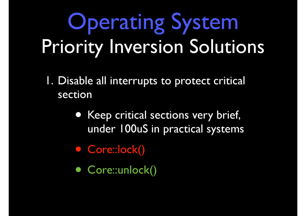 Operating System Priority Inversion Solutions 1...