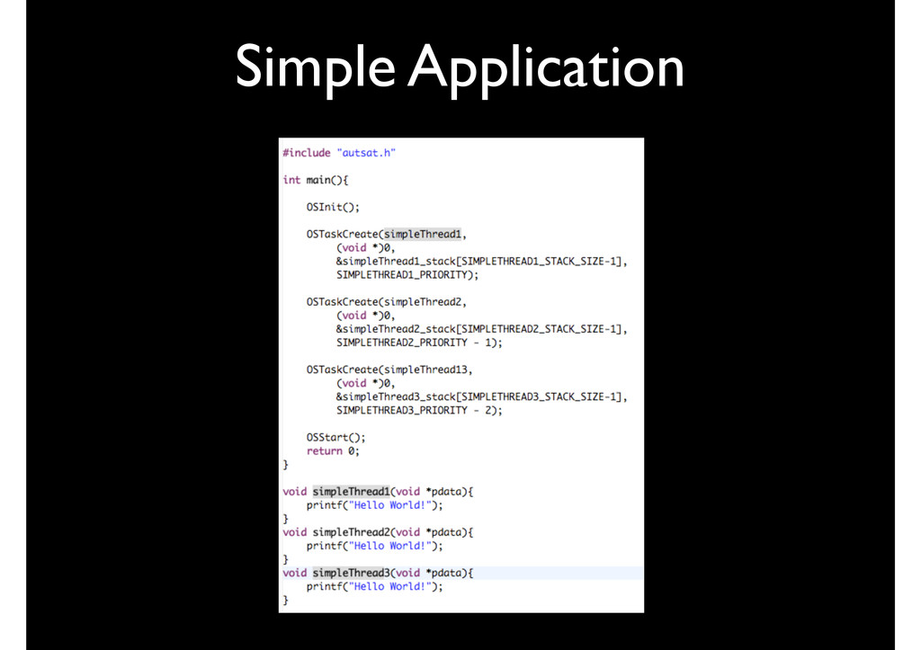 Simple Application