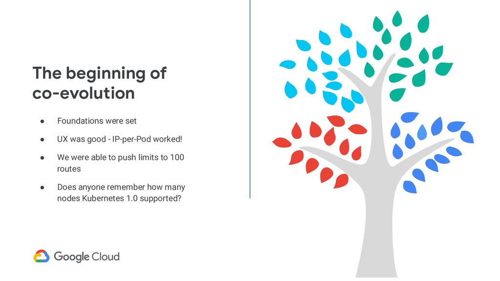 The beginning of co-evolution ● Foundations wer...